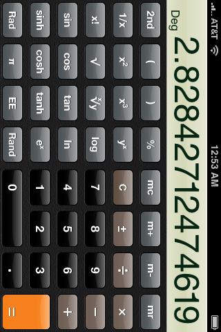 iPhone's Scientific Calculator