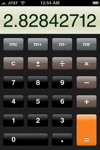 iPhone's Basic Calculator