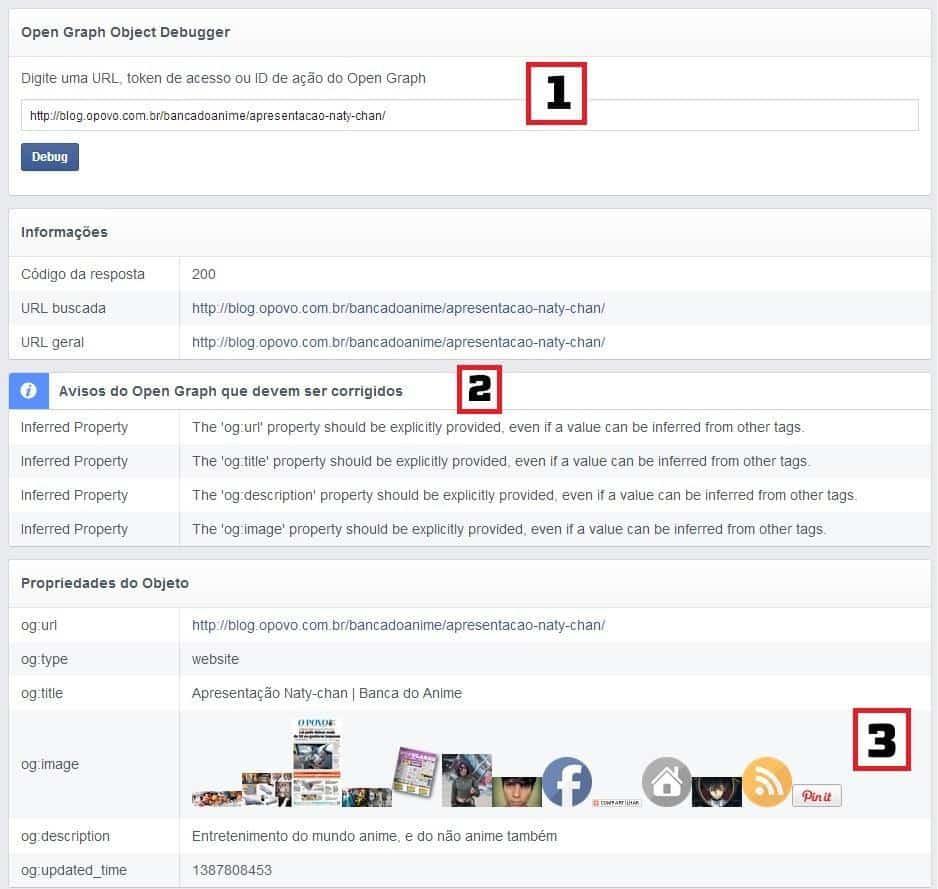 Ferramenta de Debug do Facebook