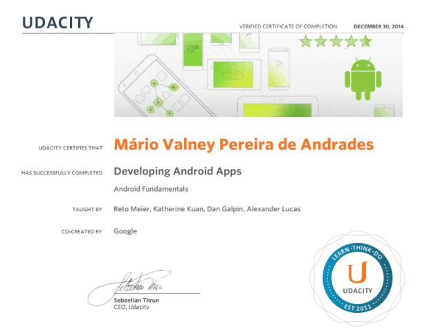 Certificado Udacity
