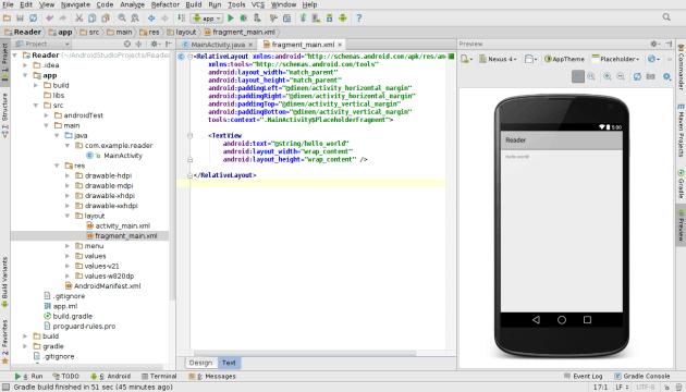 fragment_main.xml no Android Studio