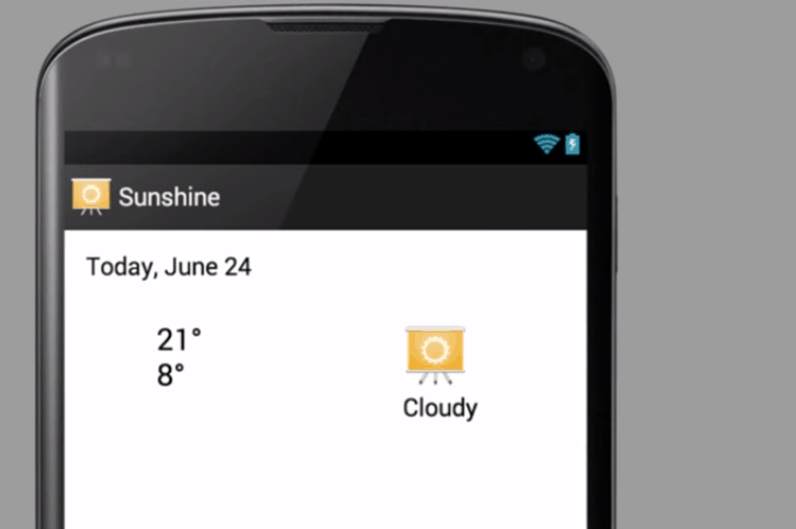 Sunshine app do curso da Udacity