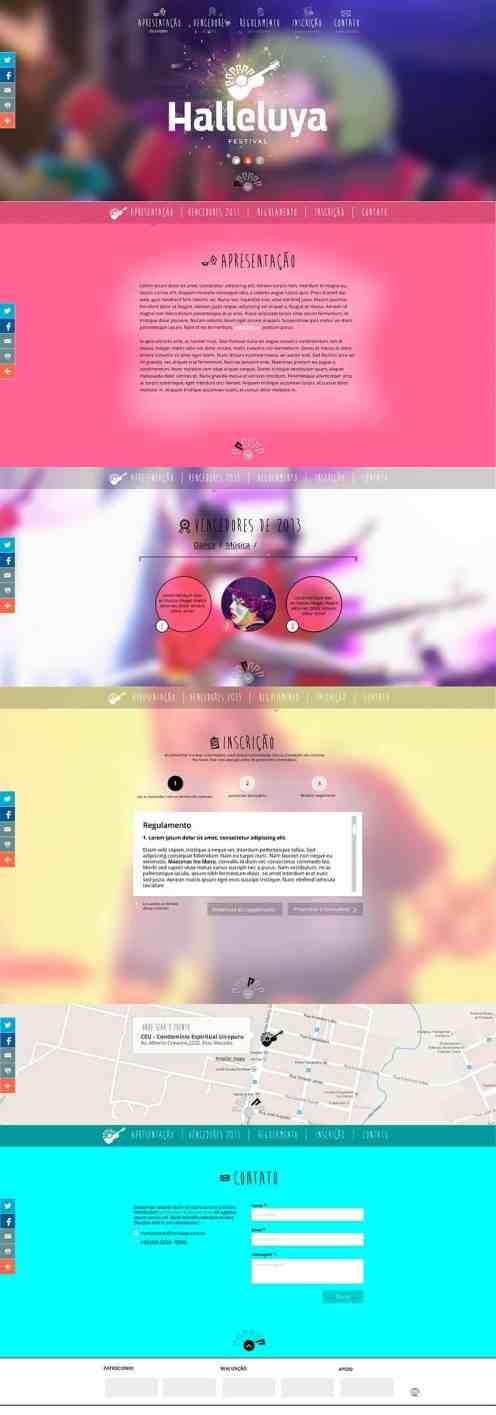 Landing page dos Festivais