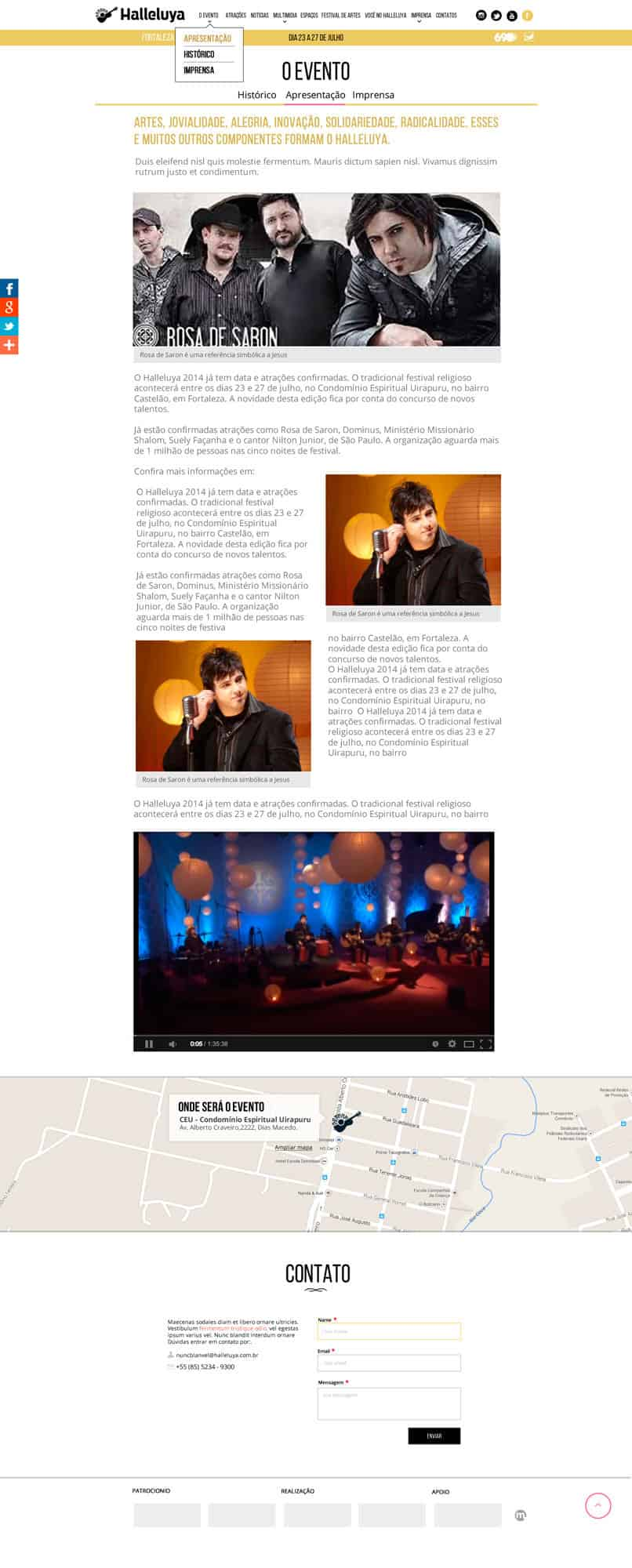 Página Interna do site