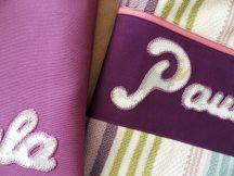 conjunto de bolsa y toalla de sábana