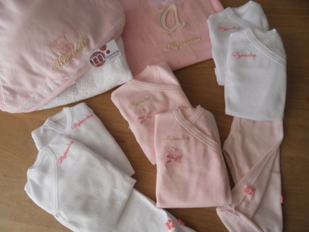conjunto completo recién nacido personalizado