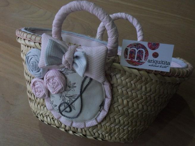 cesto infantil decorado y personalizado