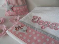 conjunto de toalla y mochila personalizada