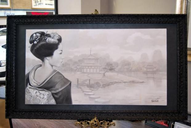 Pintura al fresco: Maiko, aprendiz de Geisha #2