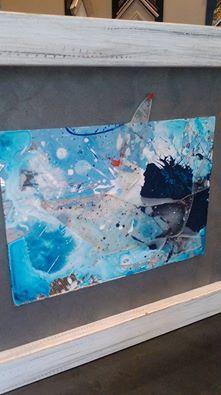 Mares, oleo y cristal: autor David Callau