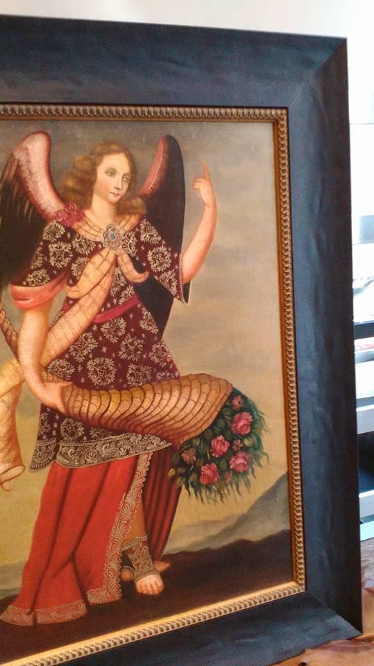 Ángel de Perú enmarcado