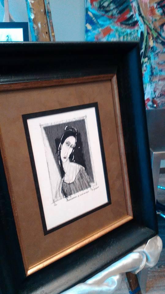 Homenaje a Modigliani: autor Martínez Tendero.