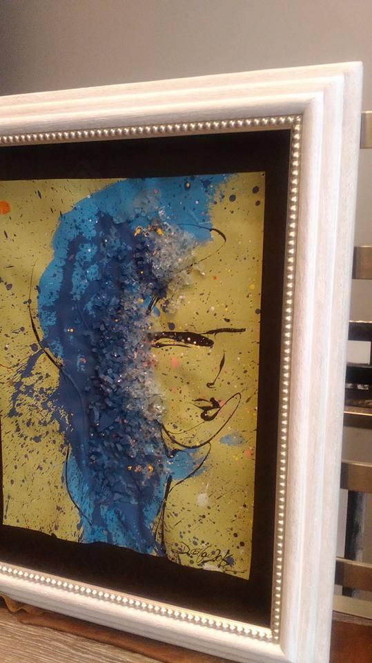 Damas de Agua, oleo y cristales. Autor David Callau