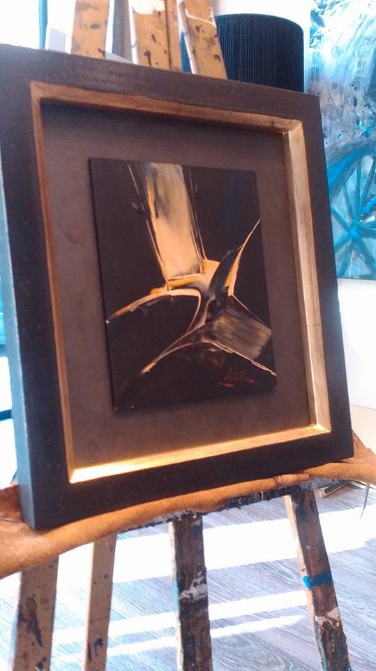 Enmarcación de óleo del pintor Viola
