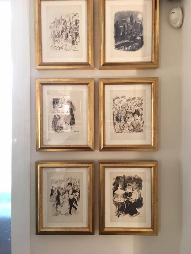Colección de grabados antiguos colocados en casa del cliente #arte #cuadros #Zaragoza #enmarcaciones #MarisaCervantes #grabados