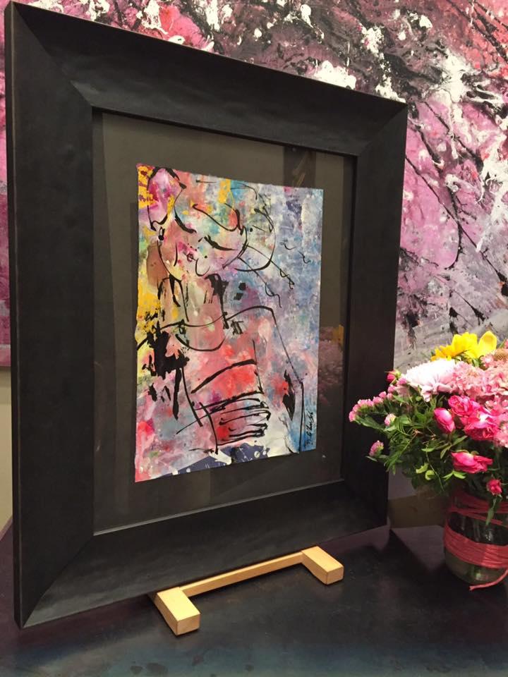 Bouquet. Autor David Callau #arte #cuadros #Zaragoza #enmarcaciones @CallauArt #MarisaCervantes