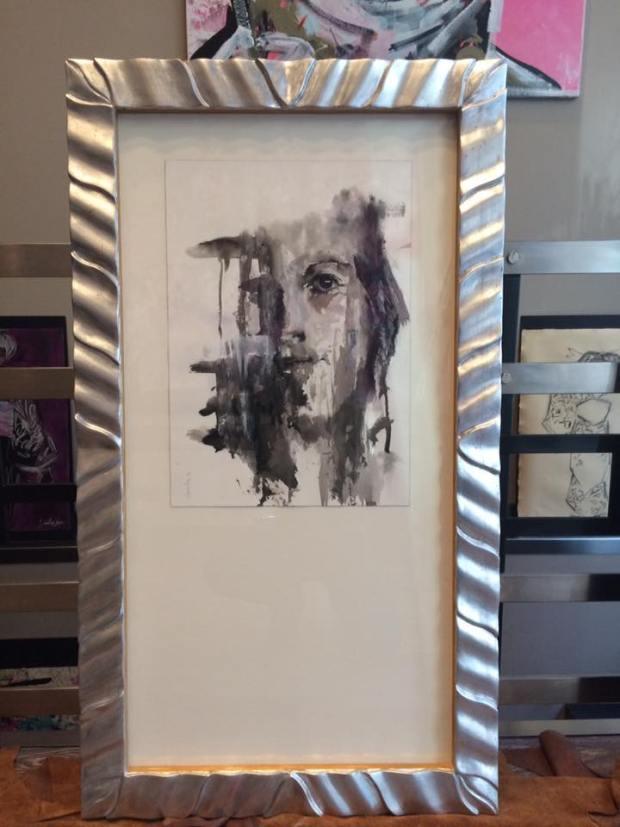 Magnífico retrato en acuarela. Autor Carlos Martín #arte #cuadros #enmarcaciones #Zaragoza #MarisaCervantes