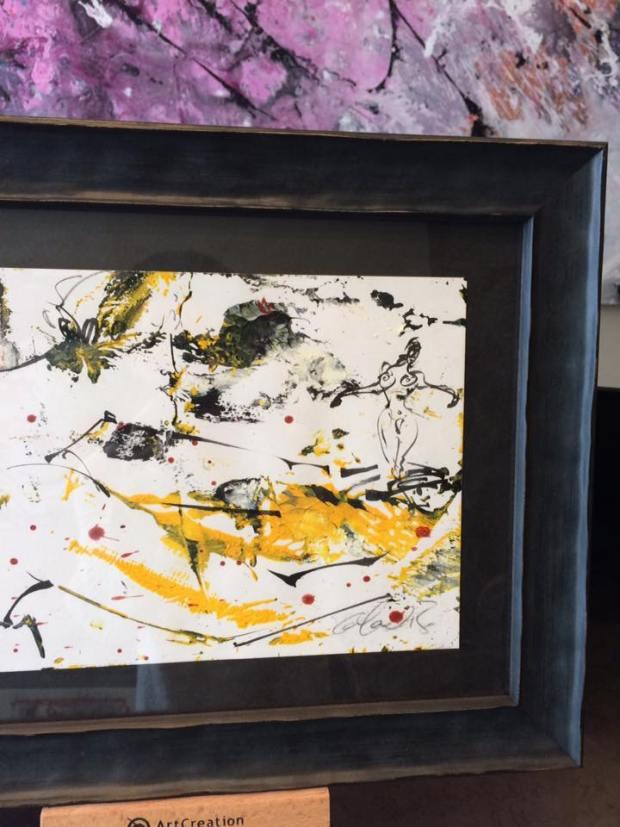 Obra de David Callau Gené @CallauArt  enmarcada para un regalo   #arte #cuadros #enmarcaciones #Zaragoza #MarisaCervantes