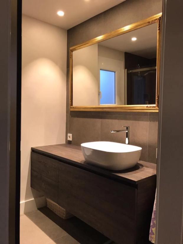 Un precioso espejo para el baño #arte #Zaragoza #Cuadros #MarisaCervantes #Espejo #decoracion #baño