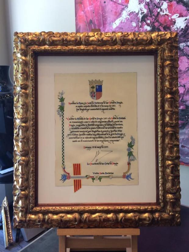 Importante documento enmarcado #cuadros #arte #decoracion #Zaragoza #enmarcaciones #MarisaCervantes