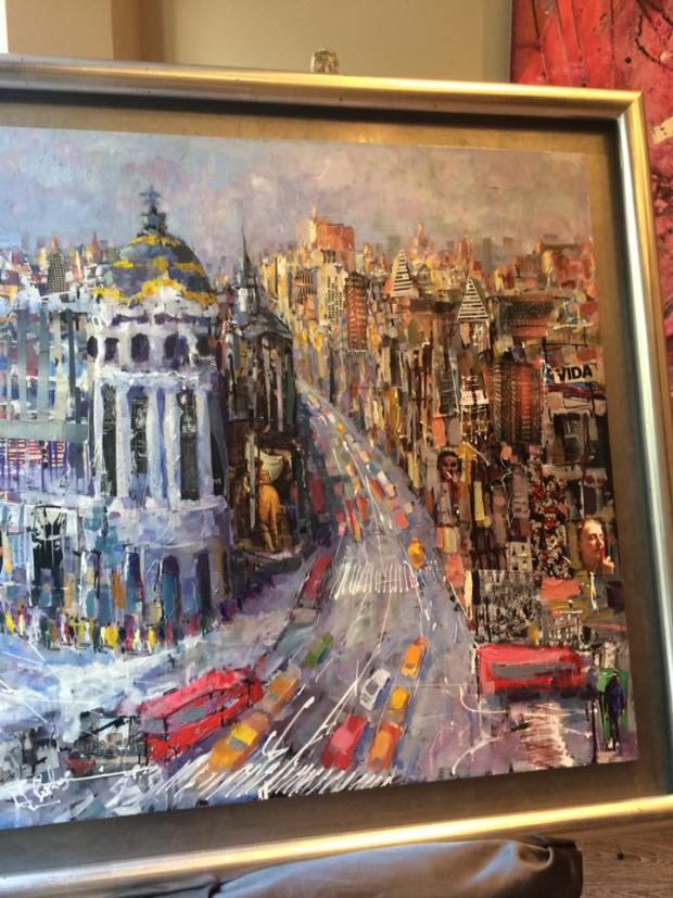 Madrid. Óleo de Juan Carlos Blas Robles. #arte #cuadros #decoracion  #enmarcaciones #Zaragoza #MarisaCervantes #marcos #Madrid
