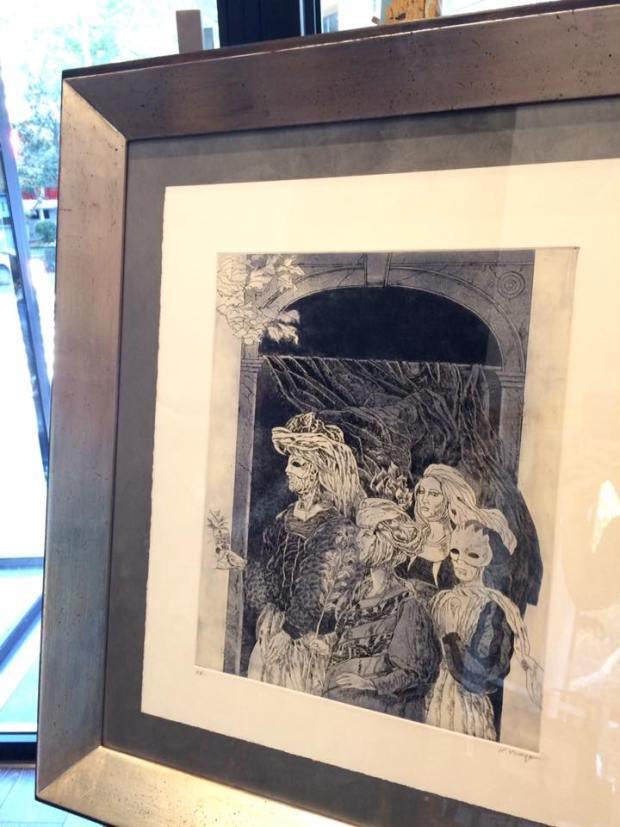 Una pieza muy especial de Natalio Bayo #arte #cuadros #enmarcaciones #Zaragoza #decoracion #MarisaCervantes #marcos