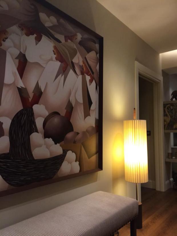 Obra enmarcada y colocada en casa del cliente #arte #Zaragoza #cuadros #decoracion #enmarcaciones #MarisaCervantes