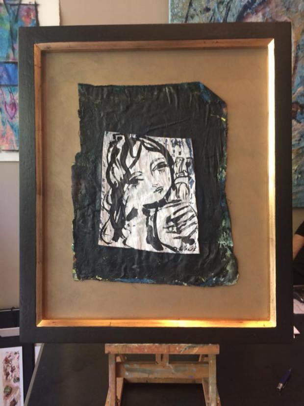 Alcalá - pintura sobre tela. Obra de David Callau @CallauArt #arte #zaragoza #cuadros #decoracion #marcos #enmarcaciones #MarisaCervantes
