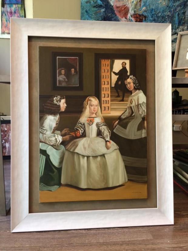 Un clásico, Las Meninas  #arte #cuadros #enmarcaciones #Zaragoza #MarisaCervantes #decoracion