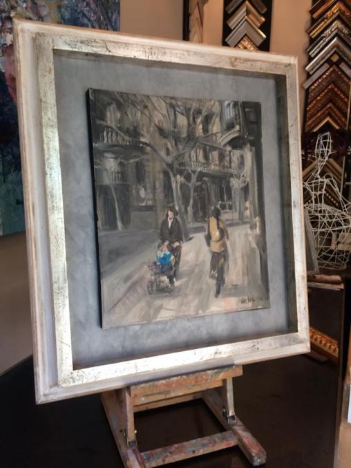 Un óleo enmarcado ,una pieza con mucho encanto. #arte #cuadros #enmarcaciones #Zaragoza #MarisaCervantes #decoracion