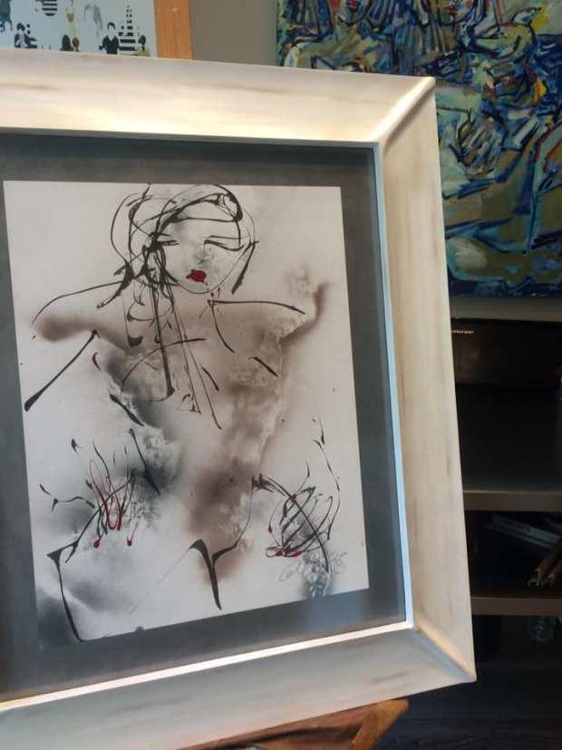 KoKo sin Chanel. Una obra enmarcada de David Callau Gené @CallauArt  #arte #cuadros #decoracion #Zaragoza #MarisaCervantes