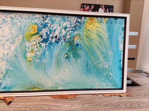 Mar de Cristal - obra enmarcada de David Callau #arte #cuadros #decoracion #enmarcaciones #Zaragoza @CallauArt