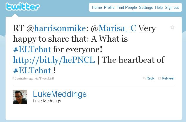 Luke Meddings thinks it IS the heartbeat of ELT! I love that!