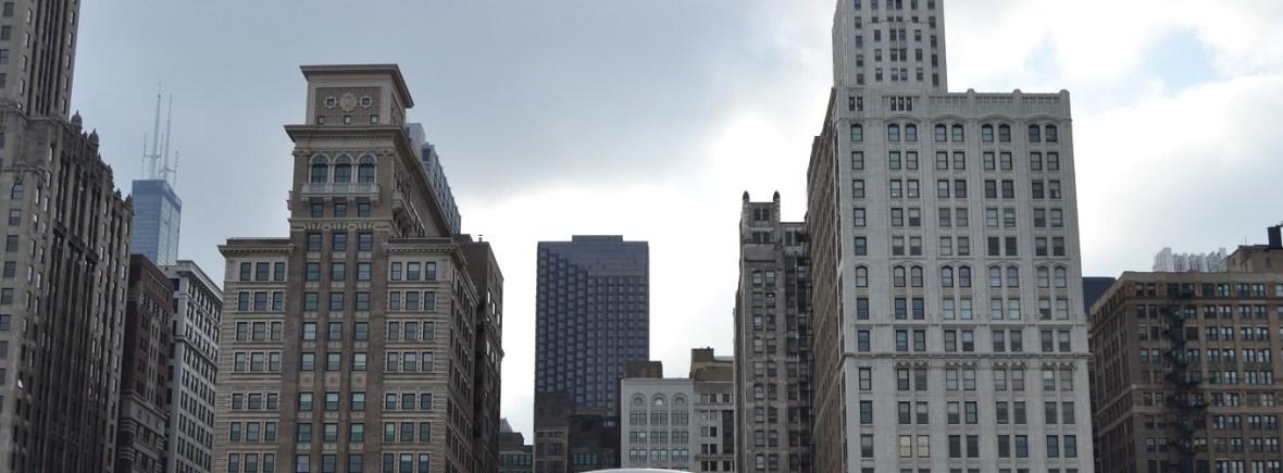 Chicago skyline view from Millennium Park