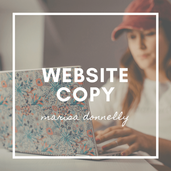 marisa donnelly - website copy and copywriting services