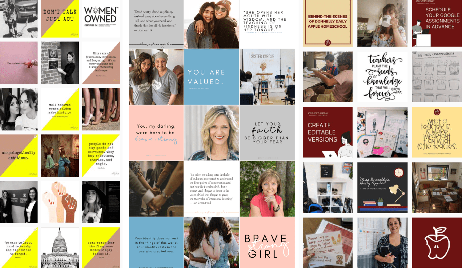 sample social media templates by Marisa Donnelly