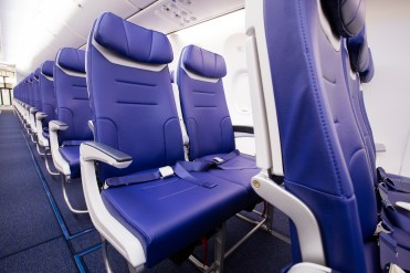 Southwest unveils 737-800 Heart interior (example of exit row seating)