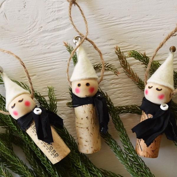 Wine Cork Elf Ornament