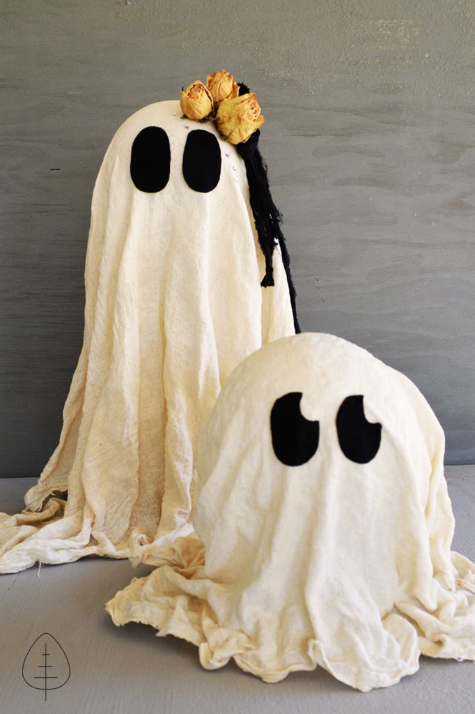 DIY cheesecloth ghost