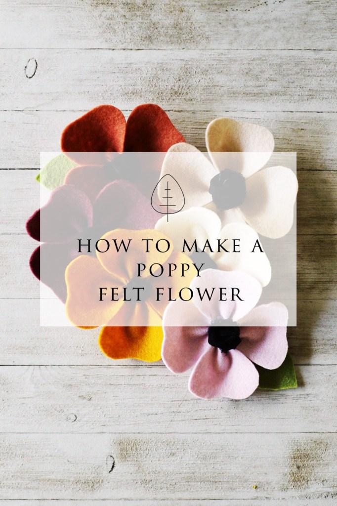 felt poppy tutorial
