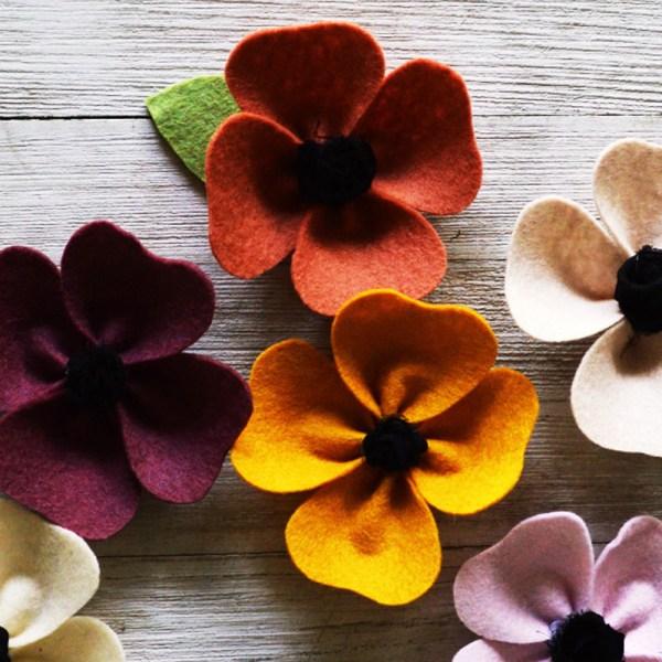Poppy Felt Flower Craft