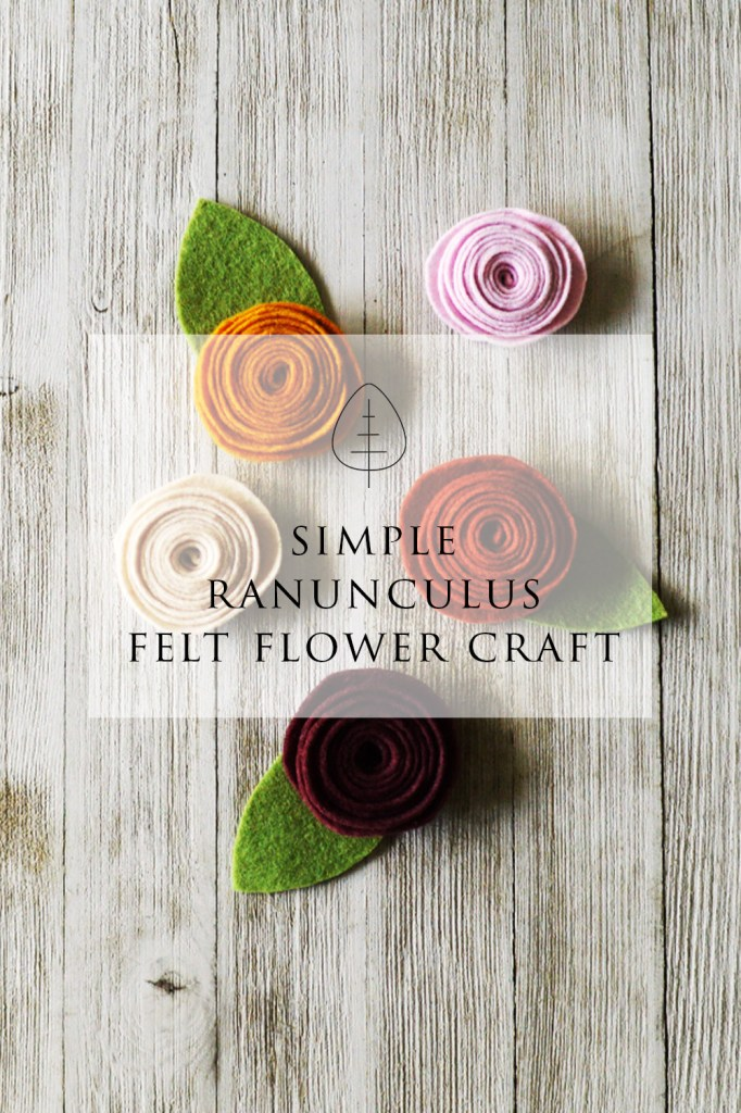 simple felt flower craft