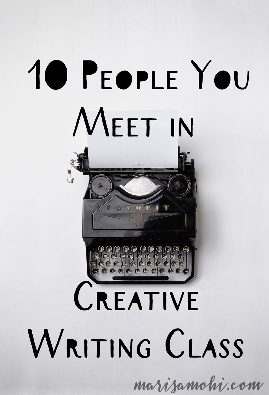 10 people you meet in creative writing class