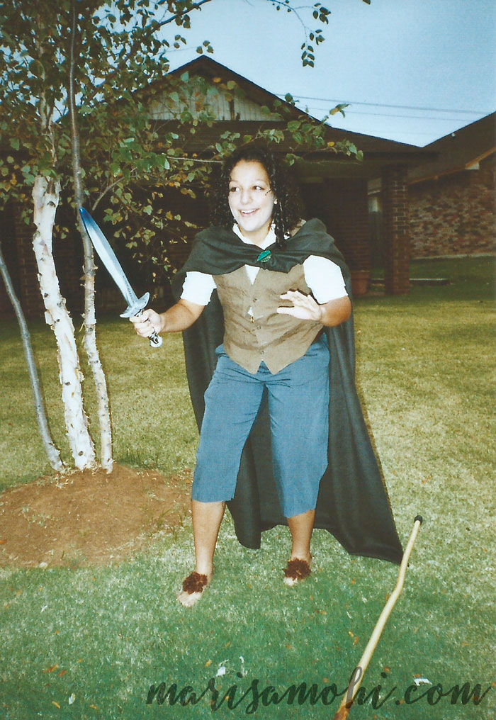 Reading LOTR made me think dressing like Frodo was a good idea.
