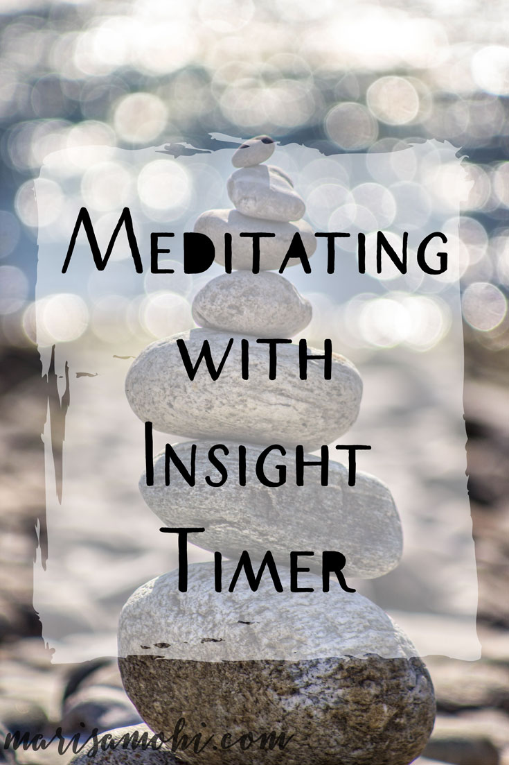 Meditating with Insight Timer