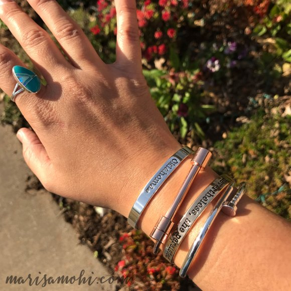 Silver and Goal jewelry