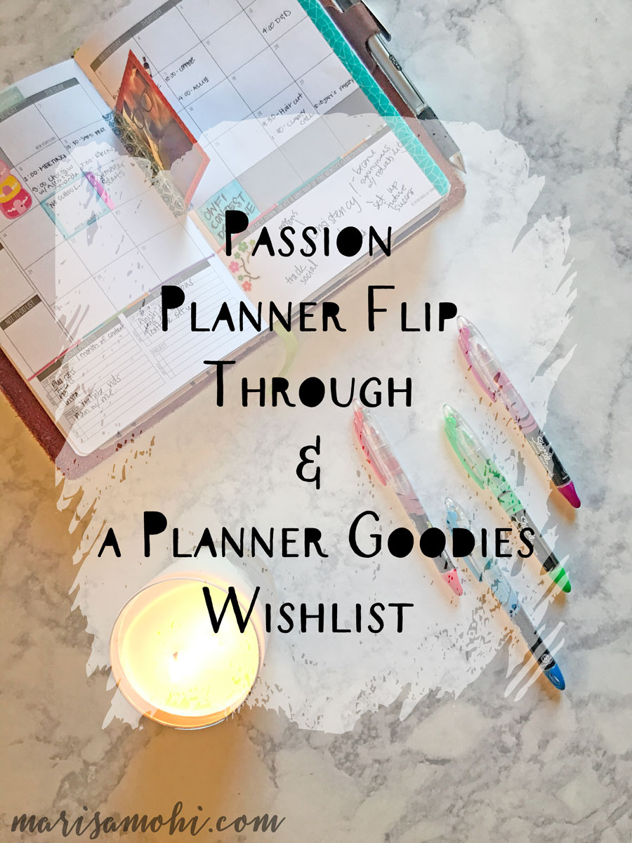 Passion Planner Flip Through and a Planner Goodies Wish List