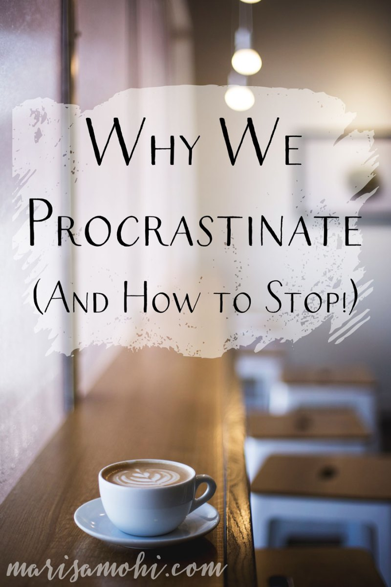 Why We Procrastinate And How to Stop | Understanding why we procrastinate is the first step to nipping your procrastinating habit in the bud. Want to step procrastinating? Check out these 5 steps.