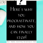 "a keyboard and mouse with the text ""here's why you procrastinate, and how you can finally stop."""