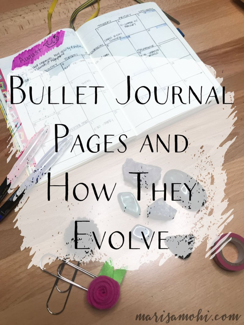 Bullet Journal Pages and How They Evolve | Today I'm sharing my bullet journal pages and how they have evolved since I started using the bullet journal system in June. These bullet journal pages are what has worked for me so far.